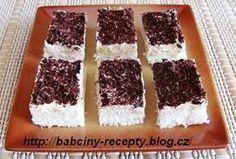 Kokosové řezy z bílků(dobrý tip na zvyšné bielky) Krispie Treats, Rice Krispies, Czech Recipes, Ethnic Recipes, Carrot Cake, Nutella, Tiramisu, Carrots, Sweets