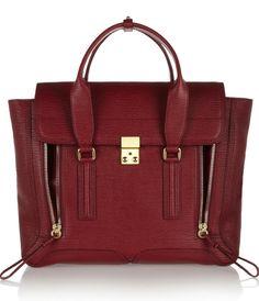 The bag: 3.1 Phillip Lim's Pashli, burgundy version. http://lecorbeaubranche.com
