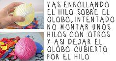 by Hadas Y Cuscus DIY, GUIRNALDAS DE BOLAS DE HILO CON LUZ http://www.hadasycuscus.es