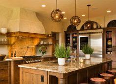iluminacion en cocinas campestres - Buscar con Google