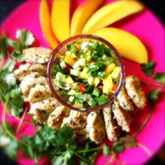 Thai Fishcakes with Mango Salsa...Very low propoints, Simple Start and Filling & Healthy friendly recipe
