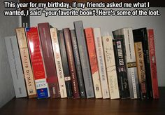 Great birthday idea- Gift your favorite book!