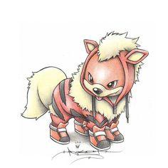 Ilustraciones de Pokémons disfrazados de sus evoluciones ♥
