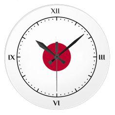 Japanese flag clocks