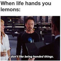I don't like being handed things....