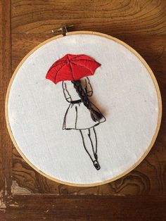 Girl who knits love - embroidery hoop art textile art fiber art - Embroidery…Handstitched embroidery hoop art - My WordPress Websiteback of the head illustration embroidery embroideryMinimalist embroidery art, in black and red.how to embroider hair