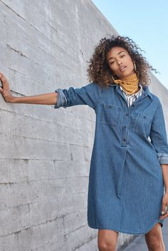 9adb9a0ce80 Denim Popover Shirtdress. Chambray DressShirtdressMadewell ...
