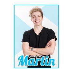 Plakát Jmenuju se Martin Youtubers, Mens Tops, T Shirt, Supreme T Shirt, Tee Shirt, Tee