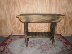 "wooden bench 24"" table. $60.00, via Etsy."