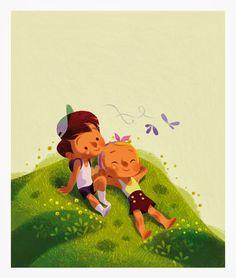 Annette Marnat Cigognes Characters t Cartoon Illustration Mignonne, Illustration Vector, Children's Book Illustration, Character Illustration, Inspirational Artwork, Kid Character, Children's Picture Books, Character Design References, Character Sketches