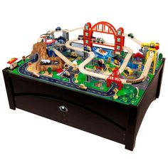 KidKraft Metropolis Train Table and Train Playset