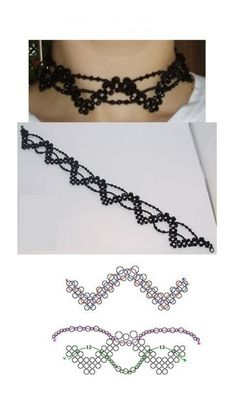 Zonder titel Beaded Lace, Lace Beading, Diy Jewelry, Crochet Necklace, Chokers, Beads, Fashion, Beading, Moda