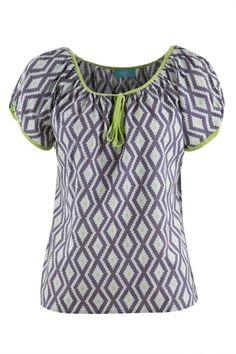 Firefly kaftans Suzie Printed Cotton Top - Womens Fashion Tops at Birdsnest Fashion