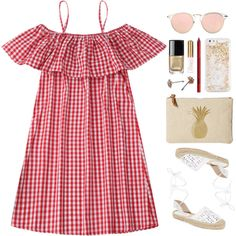 A fashion look from June 2017 featuring Maiden Lane sandals, Jack Rogers clutches and ban.do tech accessories. Browse and shop related looks.