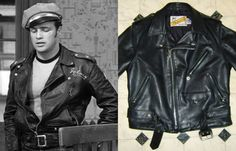 The iconic Perfecto motorcycle jacket was initially created by Schott in the 1920s. Short in body with longer arms to cover up to the hands when arms are outstretched. Traditionally, it is made from horsehide or more commonly seen now in cowhide.  Basic design elements: asymmetrical front zipper, chest pocket, two hip pockets, double collar that opens up further down the chest, a waist buckle, and silver colored hardware.  Brands to look for: Schott, Lewis Leathers, Himel Bros., Langlitz…