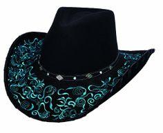 Montecarlo / Bullhide Hats - A Dream Come True - Ladies Western Wool Felt Cowboy Hat - Black (Large) Montecarlo / Bullhide Hats http://www.amazon.com/dp/B00CIXUS6S/ref=cm_sw_r_pi_dp_xPaOtb1EZ9N0CST4