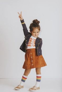 Grl pwr scherzt T-Stück - Trendy Outfits Fashion Kids, Little Girl Fashion, Toddler Fashion, Little Girl Style, Fashion Fashion, Fashion Jewelry, Toddler Girl Fall, Toddler Girl Style, Toddler Girl Outfits