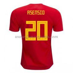 Camisetas De Futbol Selección España Copa Mundial 2018 Marco Asensio 20  Primera Equipación ce73fd69c4b4f