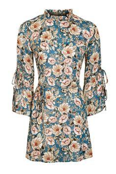 Peony Blush Tie Sleeve Dress | Topshop