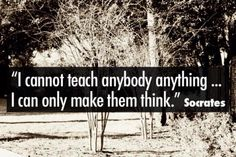 True enough, the best skill we impart to the children is the ability to think for themselves