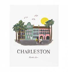 Charleston Illustrated Art Print