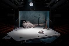 Waiting For Godot. Sheffield Crucible. Scenic design by Simon Daw.