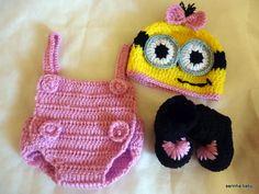 conjunto minion newborn menina