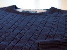 Navy cable crewneck sweater Crewneck Sweater, Men Sweater, Cable, Crew Neck, Navy, Sweaters, Cotton, Fashion, Cabo