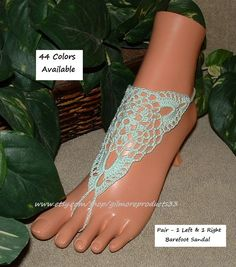 Feel like your are in #Paris with these mint green wedding barefoot sandal shoes.  Perfect lace shoes for your wedding day.  These sandals are also available in olive or sag... #etsy #paris