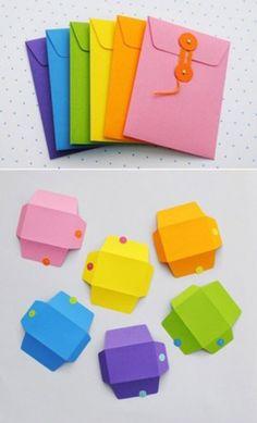 Cómo hacer vistosos sobres de colores