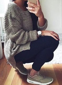 fall-fashion-gray-knit-casual
