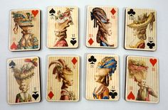 Marie Antoinette Wooden Playing Cards