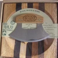 Ulu & Cutting Board.  I have been using Mike and Tiffany's and I love it!  I hate chopping normally but love this.