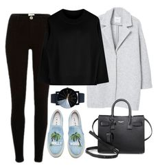 """""""Untitled #1613"""" by mihai-theodora ❤ liked on Polyvore featuring Joshua's, MANGO and Yves Saint Laurent"""