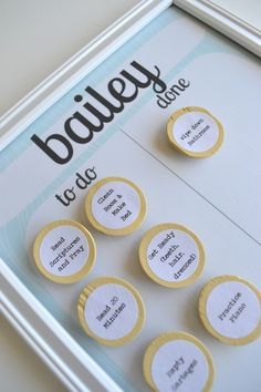 DIY:  Chore charts for the kids!