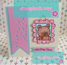 cardmaking, baby shower, papertreyink, scrapbookmex, purple onion stamps, invitaciones