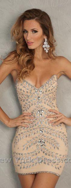 sexy mini dress #strapless