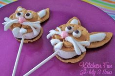 Kitchen Fun With My 3 Sons: Bunny S'more Pops!