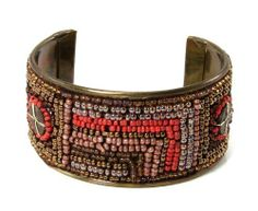 Mosaic Cuff Bracelet Brown World Finds. $21.95. Sustainable employment that empowers women. Made of locally sourced materials. Hand crafted. No child or slave labor involved. Fair trade, from India