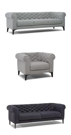 Romantico. Ponadczasowy Styl. Wyjątkowy hołd dla Chesterfield, klasyka z nowoczesnymi akcentami, które nigdy nie wychodzą z mody. #furniture #interiordesign #sofa #natuzzi #home #meble #kanapy #armchair #sofas Modern Sofa, Chesterfield, Upholstery, Lounge, Couch, Furniture, Home Decor, Romanticism, Chair