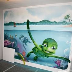 16 Deco Chambre Ocean - Fine Deco Chambre Ocean that you must know, You?re in good company if you?re looking for Deco Chambre Ocean - ? Graffiti, Kids Bedroom Designs, Bedroom Night, Good Company, Turtle, Nursery, Ocean, Illustration, Artwork
