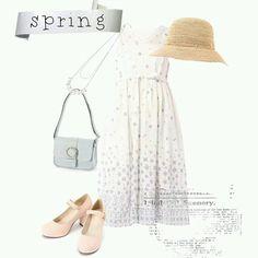 #spring #hat #bag #pumps #tgc #pastel #necklace #cute #tokyo #iqon #pintarest #mao_pak #O_range o(^-^o)(o^-^)o