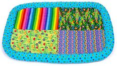 """There's lots to see and notice as young children discover new things each day. Soft mat features pictures and patterns for children to spy. Provides naming and talk-about opportunities for caregivers as they interact with children. Hunky rolled edges for comfort and security. 28"""" x 42"""". Machine wash-and-dryable."""