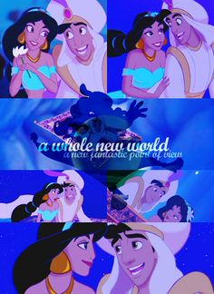 Aladdin & Jasmine My brother and I made up a dance to this song and would perform it for people. :)