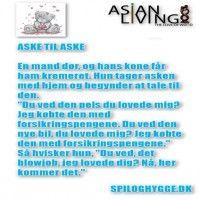 ASKE TIL ASKE - Besøg underholdssiden www.spiloghygge.dk