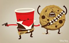 Han Solo Cup and a Chewy Wookie Cookie... I wish I had thought of this!