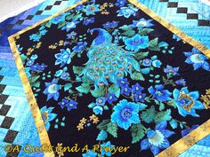 My UFO to be completed for MCQG Guild this past month was - which was to quilt my Peacock Braids quilt. I shared it's start HERE . Peacock Quilt, Peacock Fabric, Peacock Theme, Braid Quilt, Elephant Quilt, Rainbow Quilt, Panel Quilts, Quilted Wall Hangings, Flower Bouquet Wedding