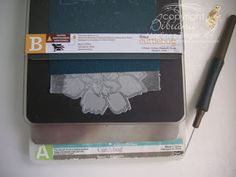 """By Bibiana Martinez-Ziegler. Make a magnetic """"C"""" Plate for your Cuttlebug. Purchase a ProMag adhesive magnetic sheet, sold at Michael's for $10 -- Use a coupon for a better deal. Cut a piece the size of the C plate; peel off the backing, and stick it directly to the C plate. Sandwich, from the bottom up: A plate, metal adapter, """"new"""" magnetic C plate, die (cutting side up), wax paper, cardstock, B plate."""