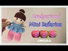 Amigurumi Bailarina croche Renata Vieira - YouTube Barbie Dress, Mini, Shabby, Crochet Hats, Make It Yourself, Dolls, Knitting, Crafts, Patterns