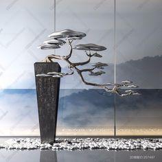 Wall Sculptures, Sculpture Art, Bonsai, Vertikal Garden, Japanese Garden Design, Zen Art, Art Object, Chinese Art, Chinese Style